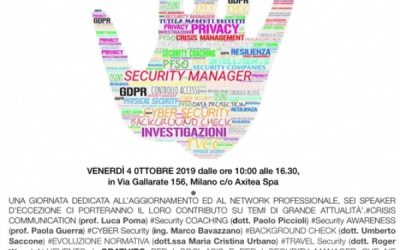 Asis Italy: Security Manager 4.0 – Save the date!